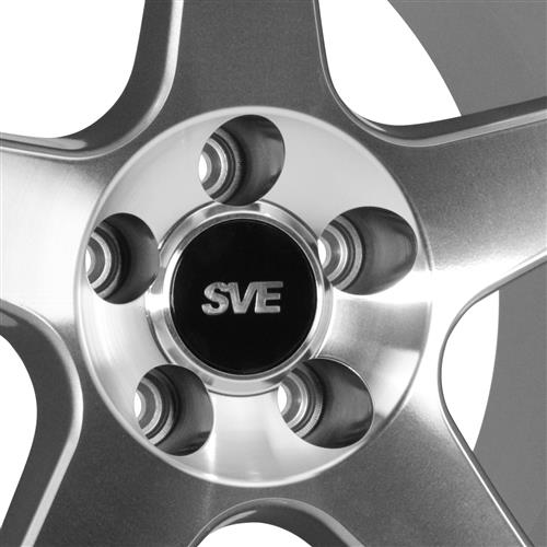 SVE Mustang 2003 Cobra Style Wheel & Drag Radial Tire Kit -  17x9/10.5 - Machined - NT555 G2 (94-04)