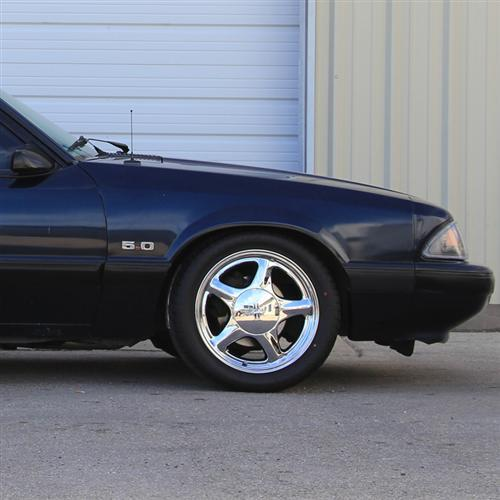 Mustang Pony Wheel Kit With Ohtsu Tire Kit Chrome (79-93)