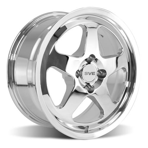 Mustang SC Staggered Wheel & Tire Kit - 17x8/10  - Chrome - NT555 G2 Tires (79-93)