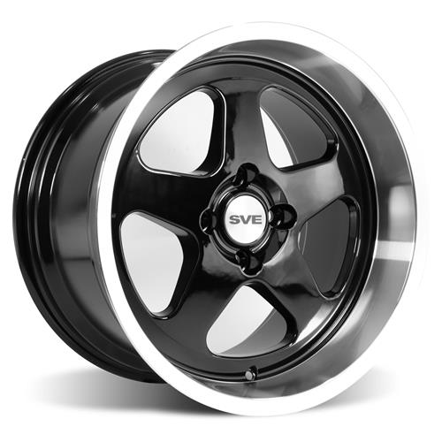 Mustang SC Staggered Wheel & Tire Kit - 17x8/10  - Black - NT555 G2 Tires (79-93)