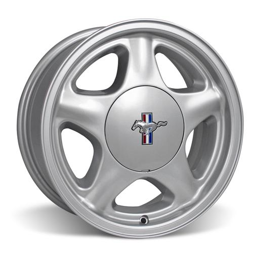 Mustang Staggered Pony Wheel & Tire Kit - 17x8/10 Silver (79-93) Nitto NT05