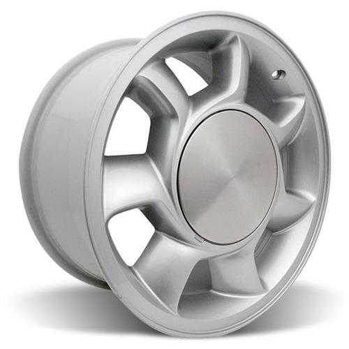 Mustang 5 Lug 93 Cobra Wheel & Tire Kit - 17x8.5 Silver (87-93) Nitto NT555