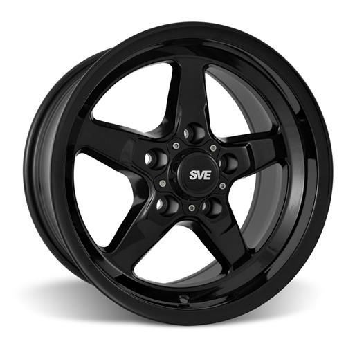 SVE Mustang Drag Wheel & Tire Kit 15X10/17X4.5 Gloss Black  (05-14)