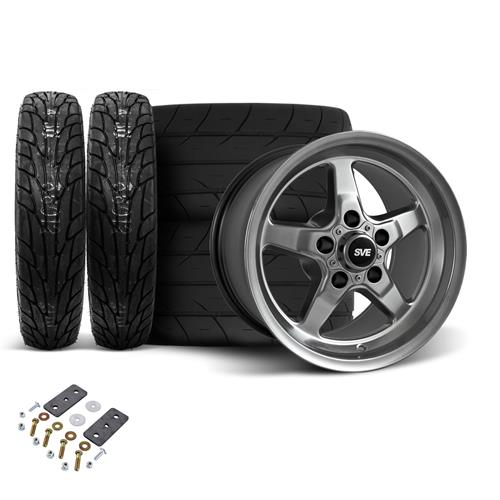 SVE Mustang Wheel & Tire Kit 15X10/17X4.5 Dark Stainless  (05-14)
