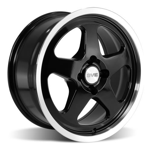 Mustang Saleen SC Wheel & Tire Kit - 17x8 Black (79-93) Sumitomo ZII