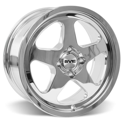 Mustang SC Staggered Wheel & Tire Kit - 17x8/9 Chrome (79-93) Nitto NT555