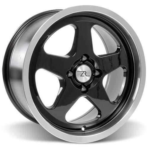 Mustang SC Staggered Wheel & Tire Kit - 17x8/9 Black (79-93) Nitto NT555