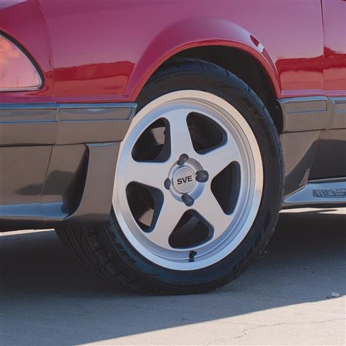 Mustang SC Wheel & Tire Kit - 17x8  - Silver - NT555 G2 Tires (79-93)