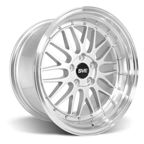 SVE Mustang Series 1 Wheel & Tire Kit - 18x9/10  - Gloss Silver - NT555 G2 Tires (94-04)