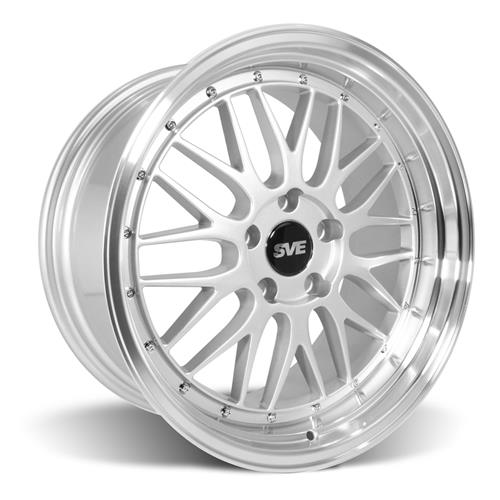 SVE Mustang Series 1 Wheel & Tire Kit - 18x9/10  - Gloss Silver - Z II Tires (94-04)