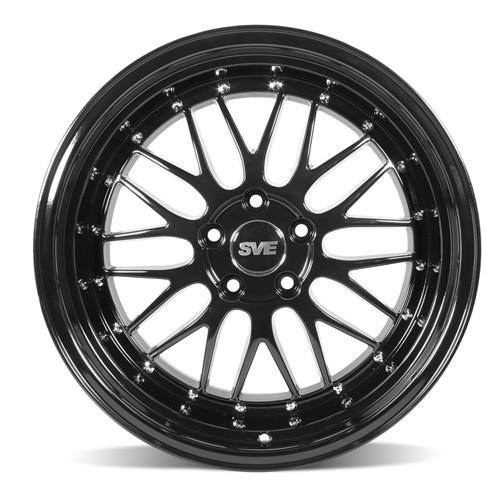 SVE Mustang Series 1 Wheel & Tire Kit - 18x9/10  - Gloss Black - NT555 G2 Tires (94-04)