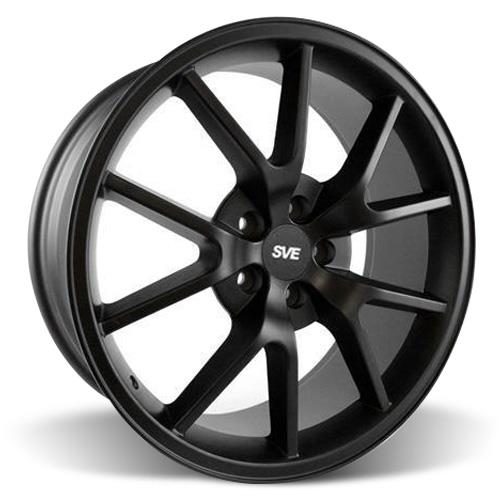 Mustang FR500 Wheel & Drag Radial Tire Kit - 17x9/10.5  - Flat Black - NT555R (94-04)