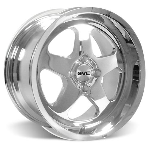 Mustang Saleen SC Staggered Wheel & Tire Kit - 17x8/10 Chrome (79-93) Sumitomo ZII