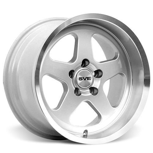 Mustang Saleen SC Staggered Wheel & Tire Kit - 17x8/10 Silver (79-93) Sumitomo ZII