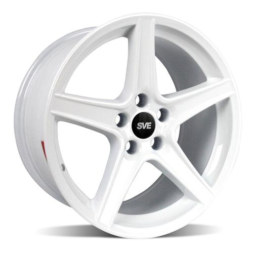 Mustang Staggered Saleen Wheel & Tire Kit - 18x9/10 White (94-04) Sumitomo ZII