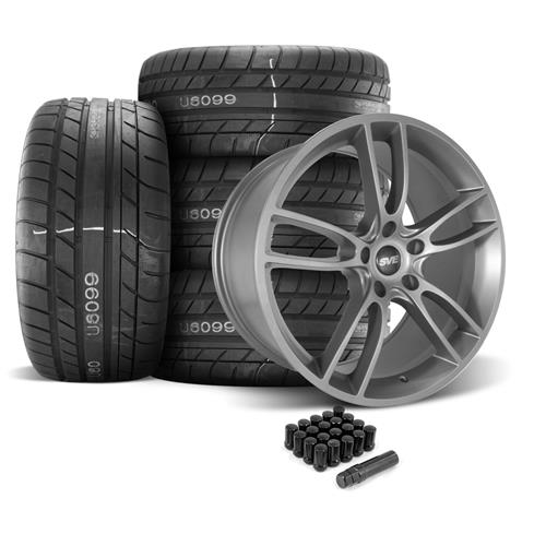 SVE Mustang GT7 Wheel & Tire Kit - 20x10  - Satin Graphite - M/T Street Comp Tires (05-14)