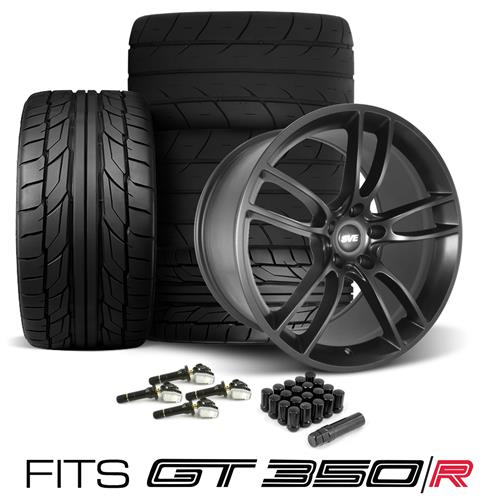 SVE Mustang GT350 GT7 Wheel & Tire Kit - 19x11/11.5  - Satin Black - G2 & M/T Tires (15-18)