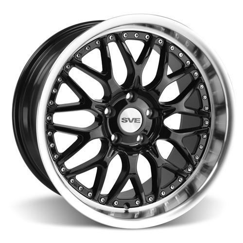 SVE Mustang Series 3 Wheel & Tire Kit - 19x9/10 Gloss Black (15-16) Nitto Invo