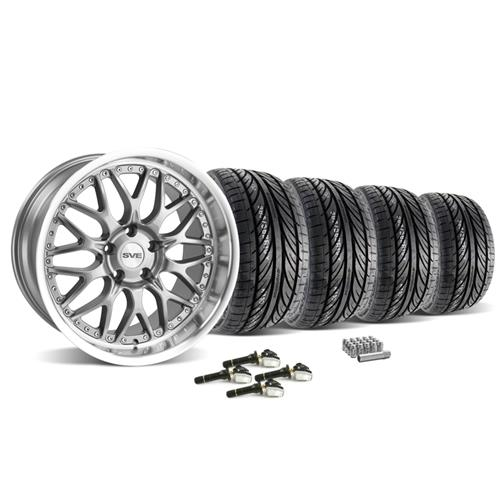 SVE Mustang Series 3 Wheel & Tire Kit - 19x9/10 Gunmetal (15-16) Hankook Ventus