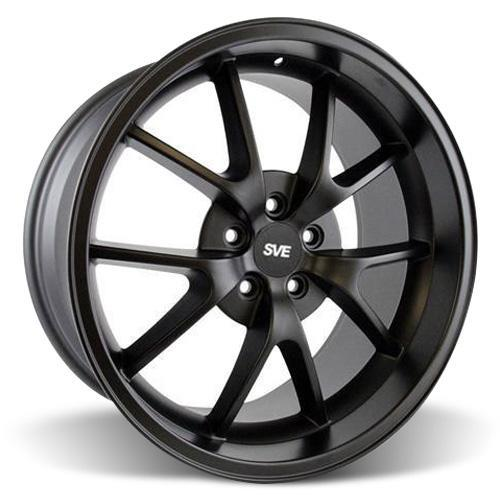Mustang FR500 Wheel & Tire Kit - 20x8.5/10 Matte Black (15-16) Ohtsu