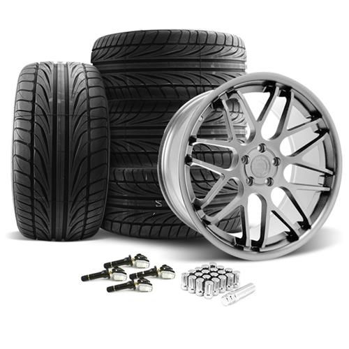 Mustang Downforce Wheel & Tire Kit - 20x8.5/10  Platinum (15-16) Ohtsu - Mustang Downforce Wheel & Tire Kit - 20x8.5/10  Platinum (15-16) Ohtsu