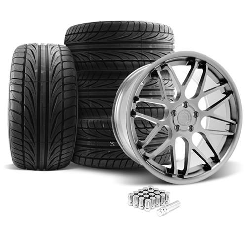 Mustang Downforce Wheel & Tire Kit - 20x8.5/10  Platinum (05-14) Ohtsu