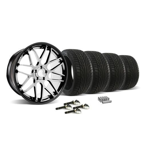 Mustang Downforce Wheel & Tire Kit - 20x8.5/10  Machined Face (15-16) Ohtsu