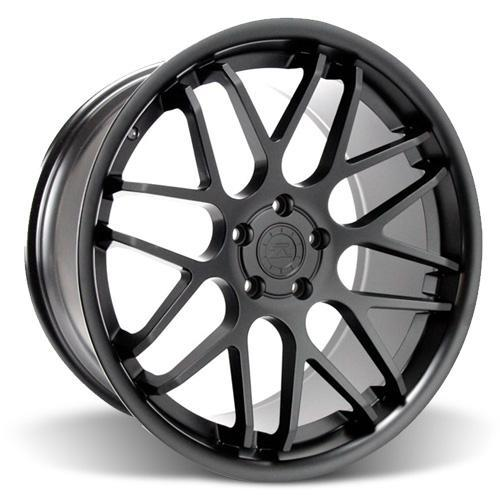 Mustang Downforce Wheel & Tire Kit - 20x8.5/10  Matte Black (15-16) Ohtsu