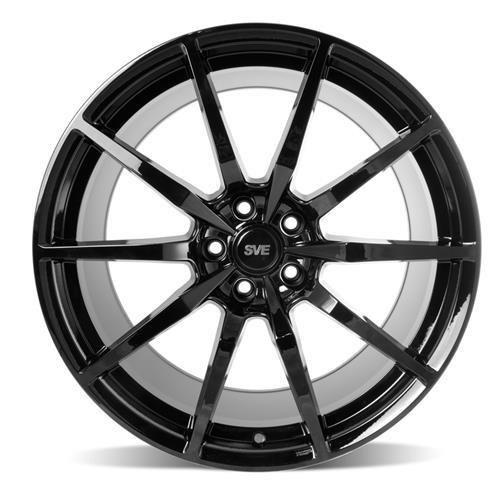 SVE Mustang S350 Wheel & Tire Kit - 20x10  - Gloss Black - Invo Tires (15-17)