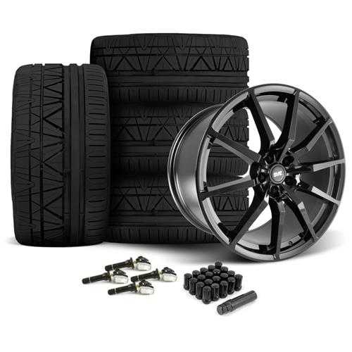 SVE Mustang GT350 Style Wheel & Tire Kit - 20x10  - Gloss Black - Invo Tires (15-16)