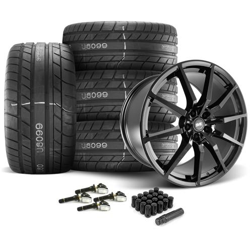 SVE Mustang GT350 Style Wheel & Tire Kit  - Gloss Black - M/T Street Comp Tires (15-17)