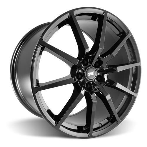 SVE Mustang GT350 Style Wheel & Tire Kit  - Gloss Black - Staggered NT555 G2 Tires (15-17)