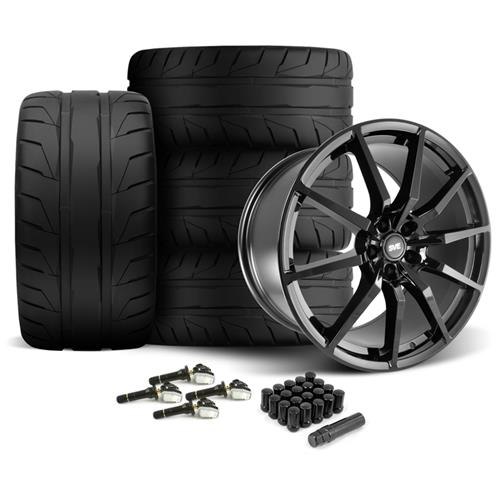 SVE Mustang GT350 Style Wheel & Tire Kit - 20x10  - Gloss Black - NT05 Tires (15-16)