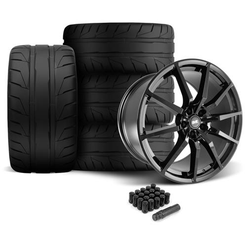SVE Mustang GT350 Style Wheel & Tire Kit - 20x10  - Gloss Black - NT05 Tires (05-14)