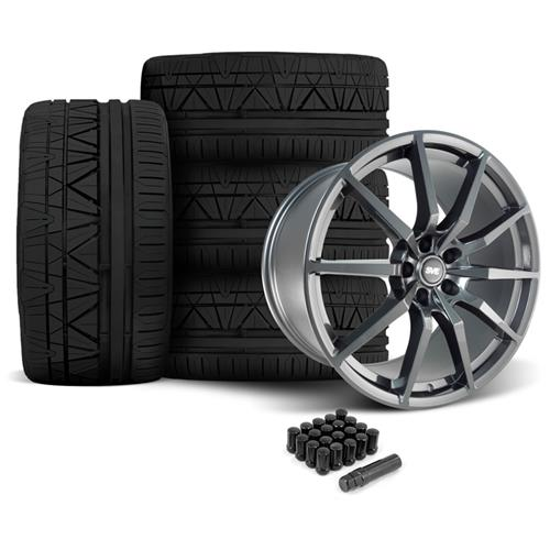 SVE Mustang GT350 Style Wheel & Tire Kit - 20x10  - Gloss Graphite - Invo Tires (05-14)