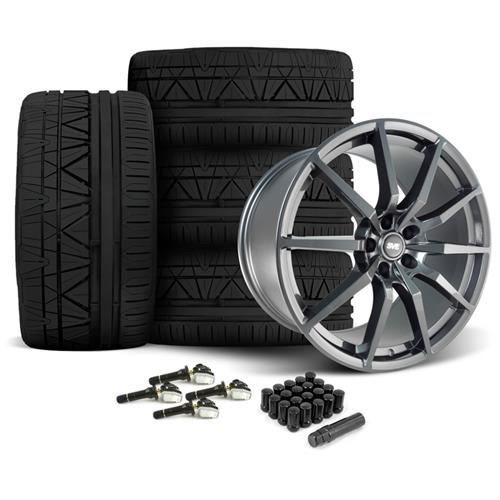 SVE Mustang GT350 Style Wheel & Tire Kit - 20x10  - Gloss Graphite - Invo Tires (15-16)