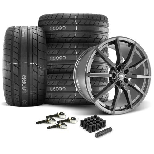 SVE Mustang GT350 Style Wheel & Tire Kit  - Gloss Graphite - M/T Street Comp Tires (15-17)