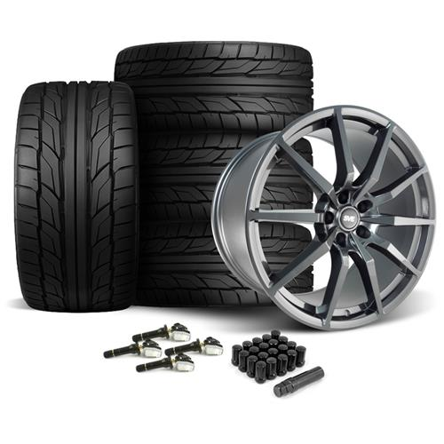 SVE Mustang GT350 Style Wheel & Tire Kit - 20x10  - Gloss Graphite - NT555 G2 Tires (15-16)