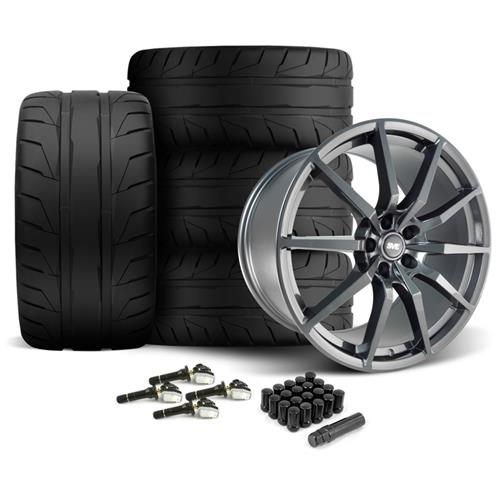 SVE Mustang GT350 Style Wheel & Tire Kit - 20x10  - Gloss Graphite - NT05 Tires (15-16)