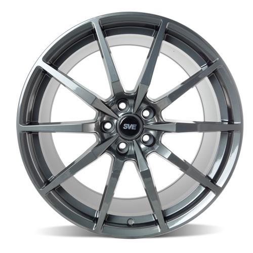 SVE Mustang S350 Wheel & Tire Kit - 20x10  - Gloss Graphite - Ohtsu Tires (15-17)