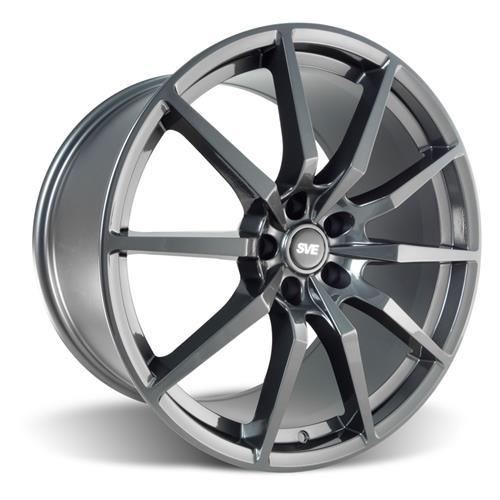 SVE Mustang GT350 Style Wheel & Tire Kit - 20x10  - Gloss Graphite - Ohtsu Tires (05-14) - SVE Mustang GT350 Style Wheel & Tire Kit - 20x10  - Gloss Graphite - Ohtsu Tires (05-14)