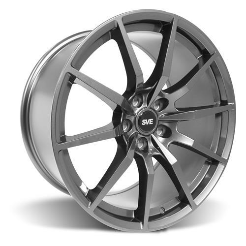 SVE Mustang GT350 Style Wheel Kit - 19x10  - Gloss Graphite - NT555 G2 Tires (05-14)
