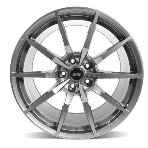 SVE Mustang S350 Wheel & Tire Kit - 19x10  - Gloss Graphite - NT555 G2 Tires (15-17)