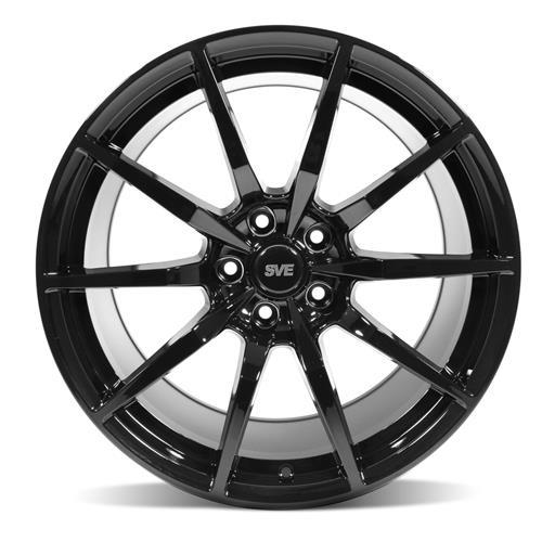 SVE Mustang S350 Wheel & Tire Kit - 19x10/11  - Gloss Black - NT555 G2 Tires (15-17)