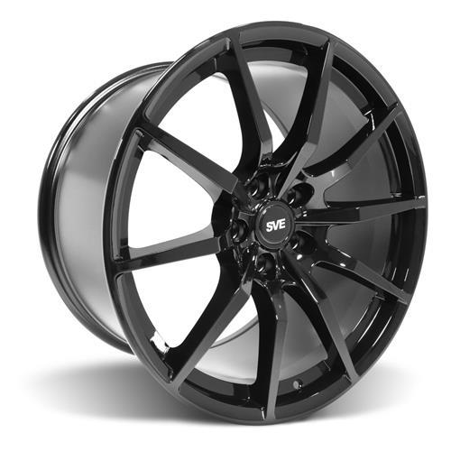 SVE Mustang GT350 Style Wheel & Tire Kit - 19x10/11  - Gloss Black - NT555 G2 Tires (15-17)