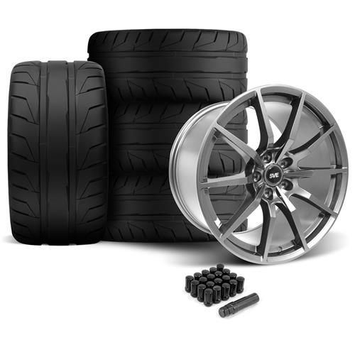 SVE Mustang GT350 Style Wheel & Tire Kit - 19x10/11  - Gloss Graphite - NT05 Tires (05-14)