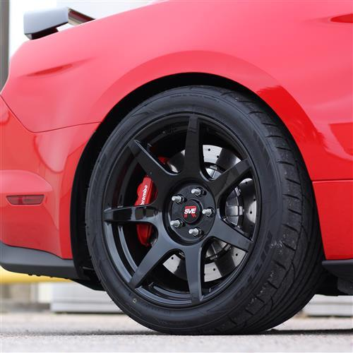 SVE Mustang R350 Wheel & Tire Kit - 19x10/11 - Gloss Black - Cooper Tires (15-19) Fits GT350/R