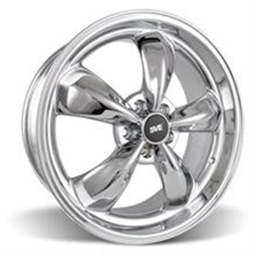 Mustang Staggered Bullitt Wheel & Tire Kit - 20x8.5/10 Chrome (05-14) Nitto NT555