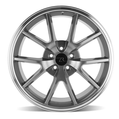 Mustang FR500 Wheel & Tire Kit - 20x8.5/10 Anthracite (05-14) Ohtsu