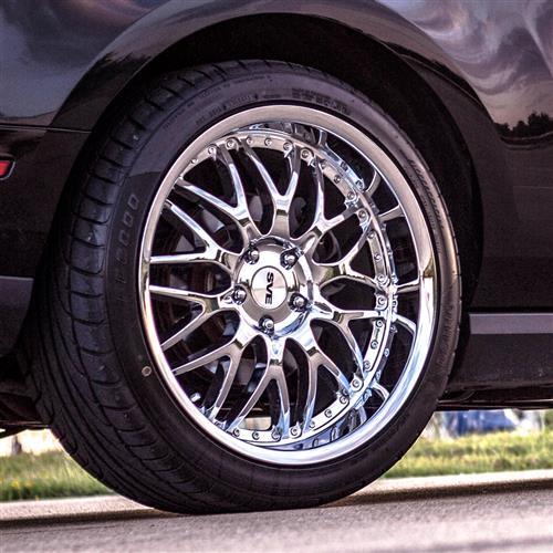 SVE Mustang Series 3 Wheel & Tire Kit - 20x8.5/10 Chrome (05-14) Nitto Invo